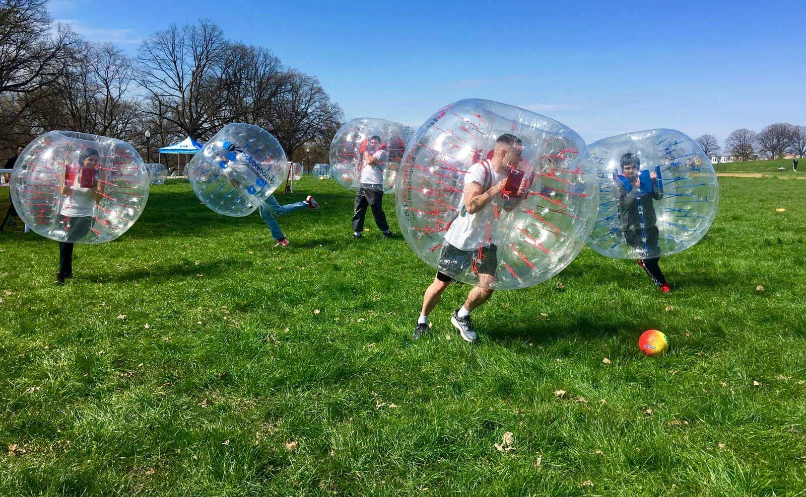 Bubble Soccer in Baltimore at Patterson Park