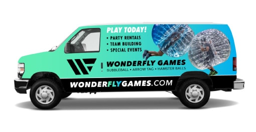 bubble ball soccer delivery van